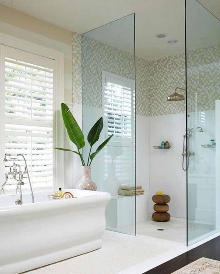 Modello di doccia walk-in con finestra n.05