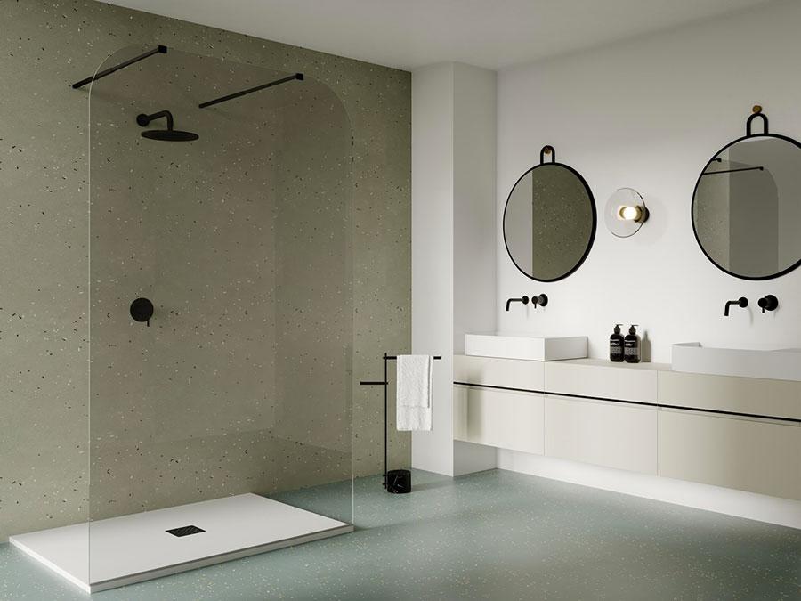 Modello di doccia walk-in flottante n.02