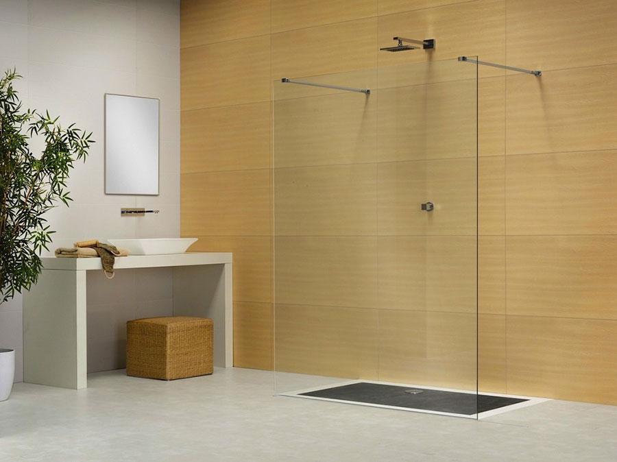 Modello di doccia walk-in flottante n.03