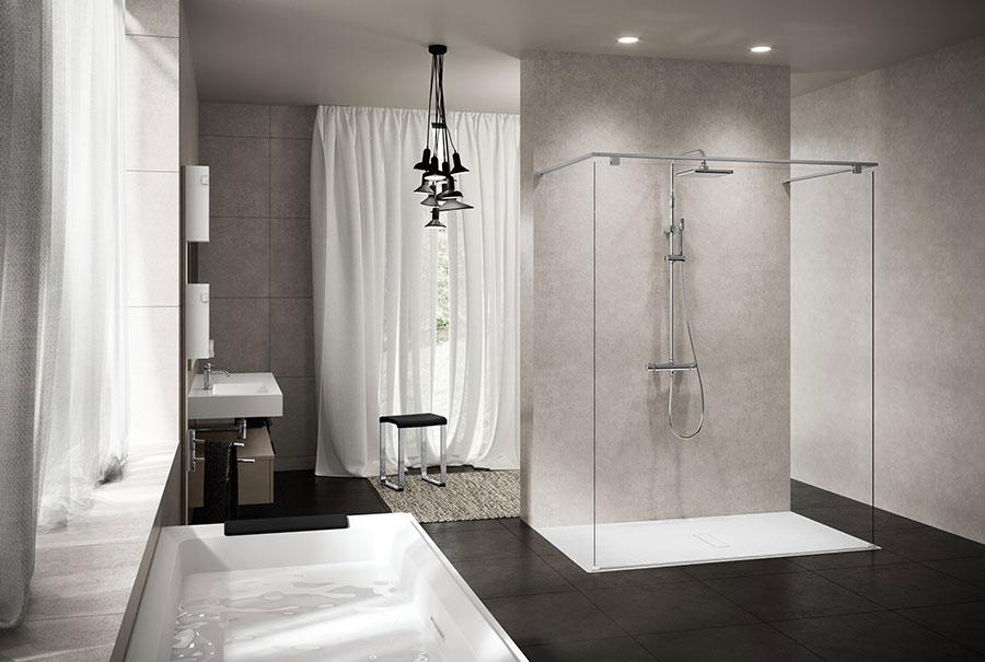 Modello di doccia walk-in flottante n.04