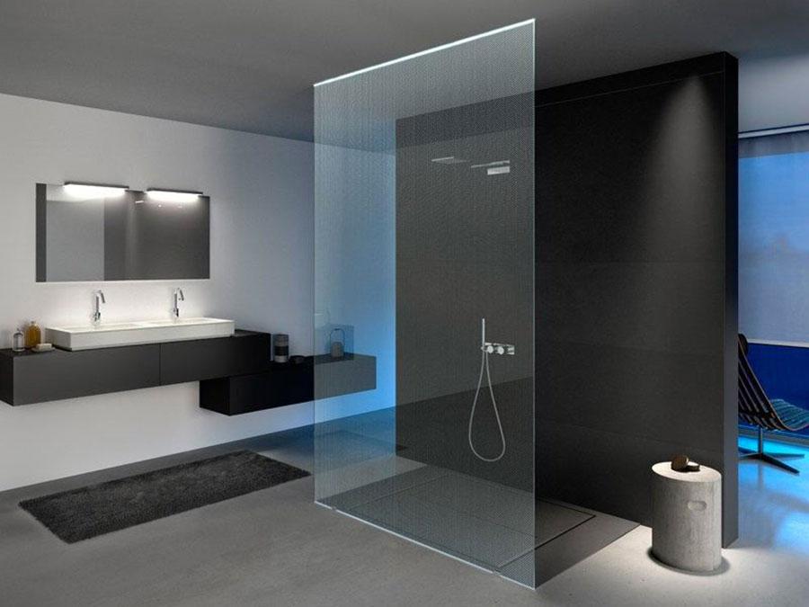 Modello di doccia walk-in flottante n.07