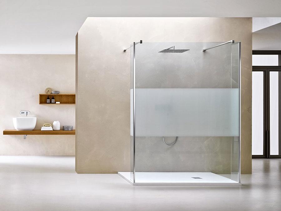 Modello di doccia walk-in flottante n.08