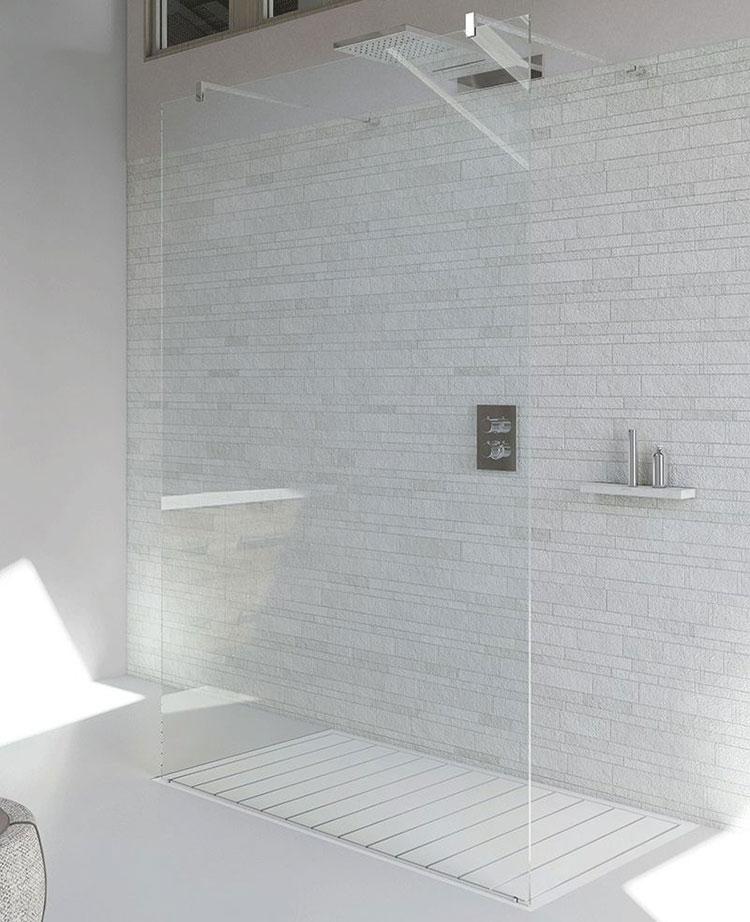 Modello di doccia walk-in flottante n.10