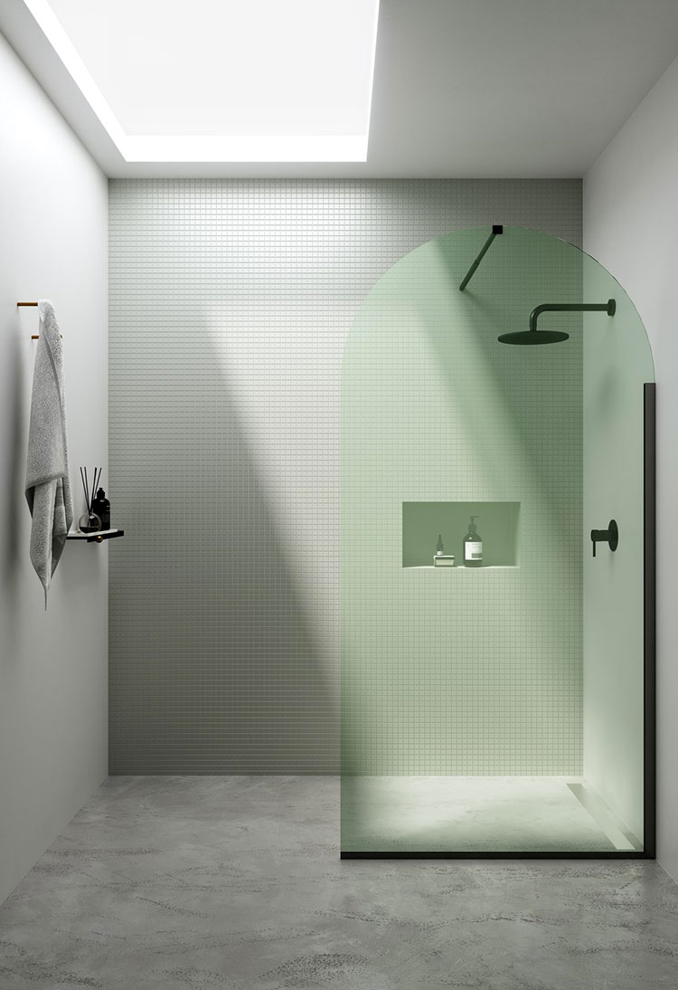 Modello di doccia walk-in a incasso n.01