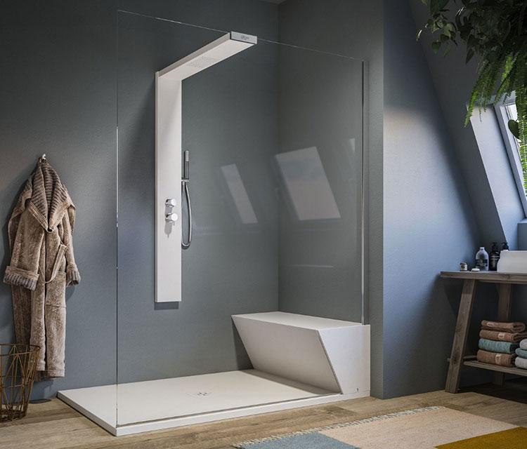Modello di doccia walk-in a incasso n.02