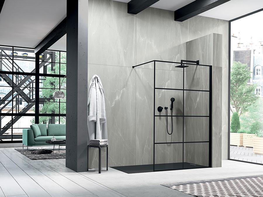 Modello di doccia walk-in a incasso n.03