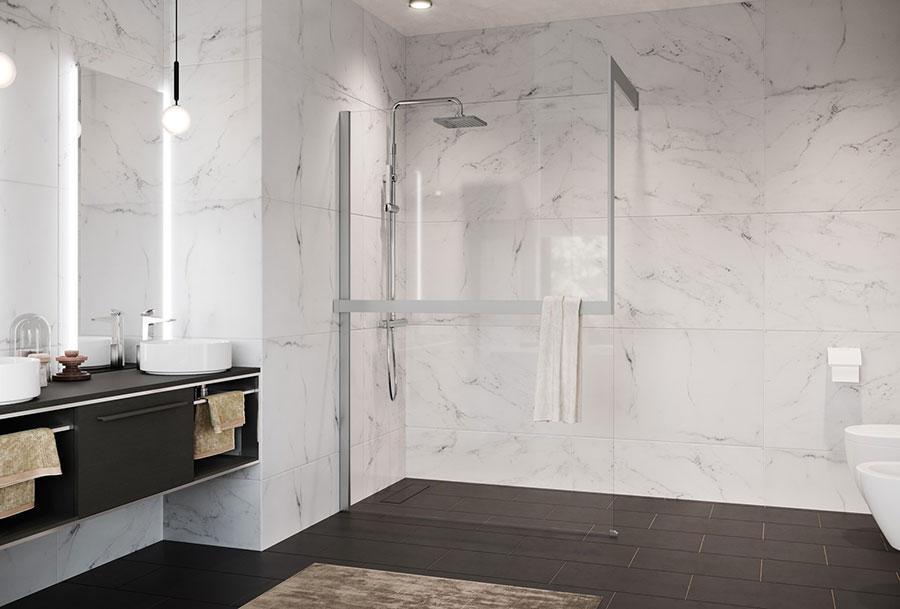 Modello di doccia walk-in a incasso n.05