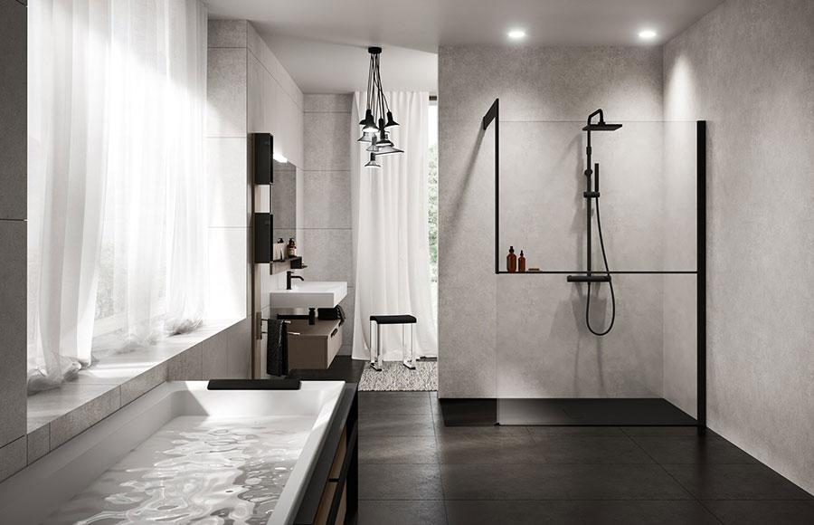 Modello di doccia walk-in a incasso n.06