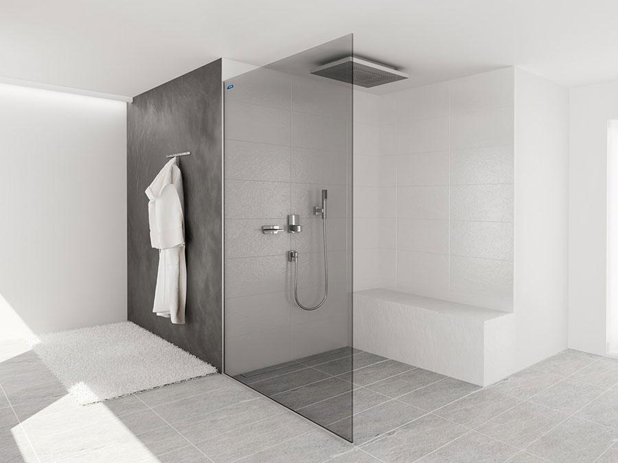 Modello di doccia walk-in a incasso n.08