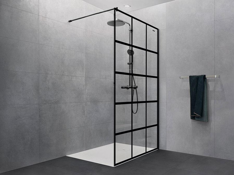 Modello di doccia walk-in a incasso n.09