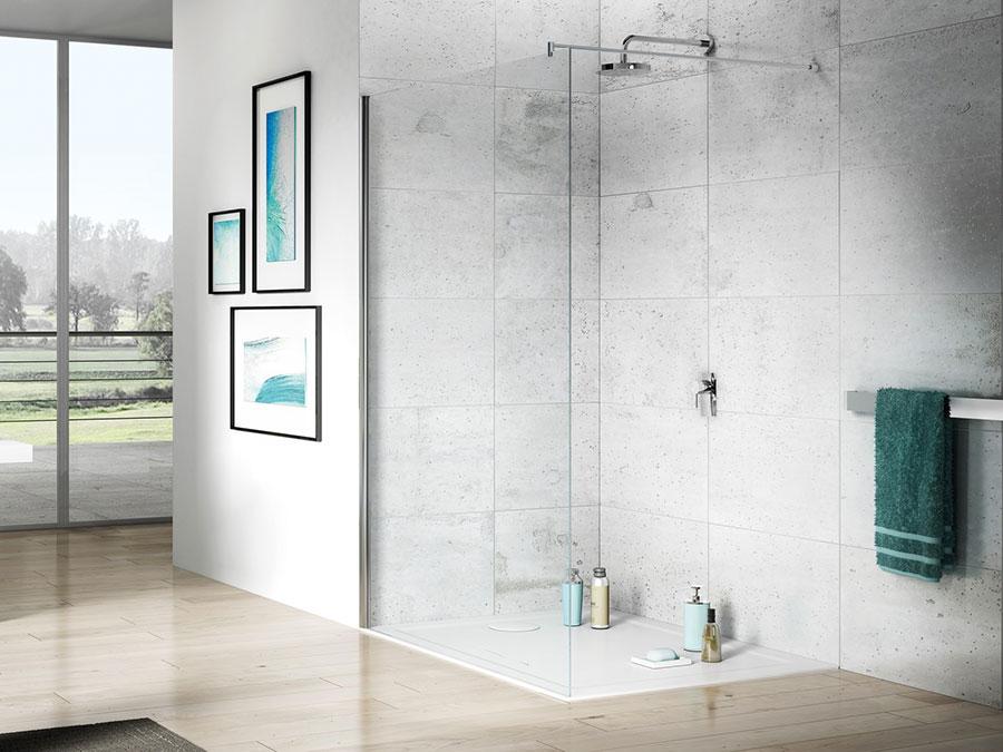 Modello di doccia walk-in a incasso n.10