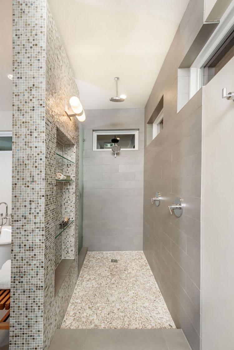 Modello di doccia walk-in in muratura n.02