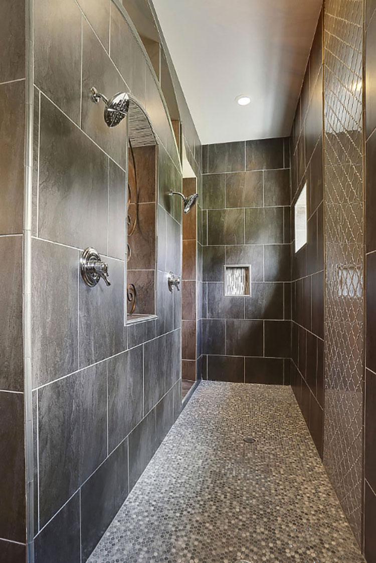 Modello di doccia walk-in in muratura n.03