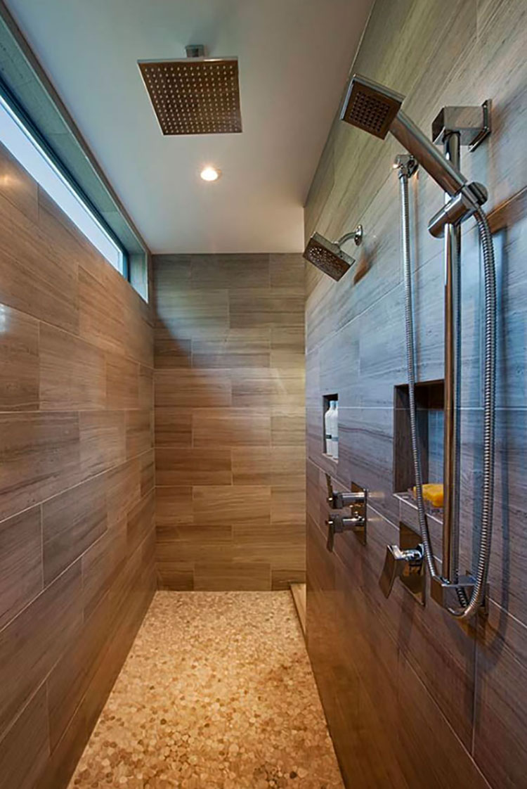 Modello di doccia walk-in in muratura n.04