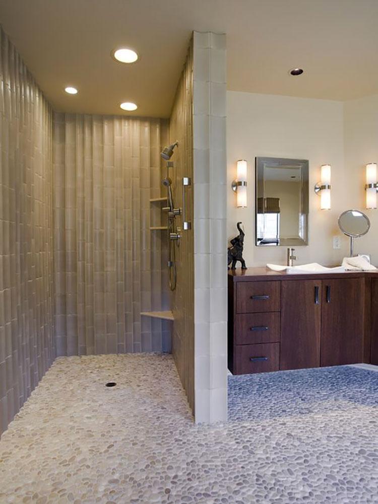 Modello di doccia walk-in in muratura n.05