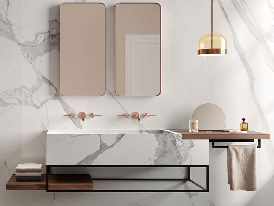 Modello di mobile bagno sospeso di design n.01