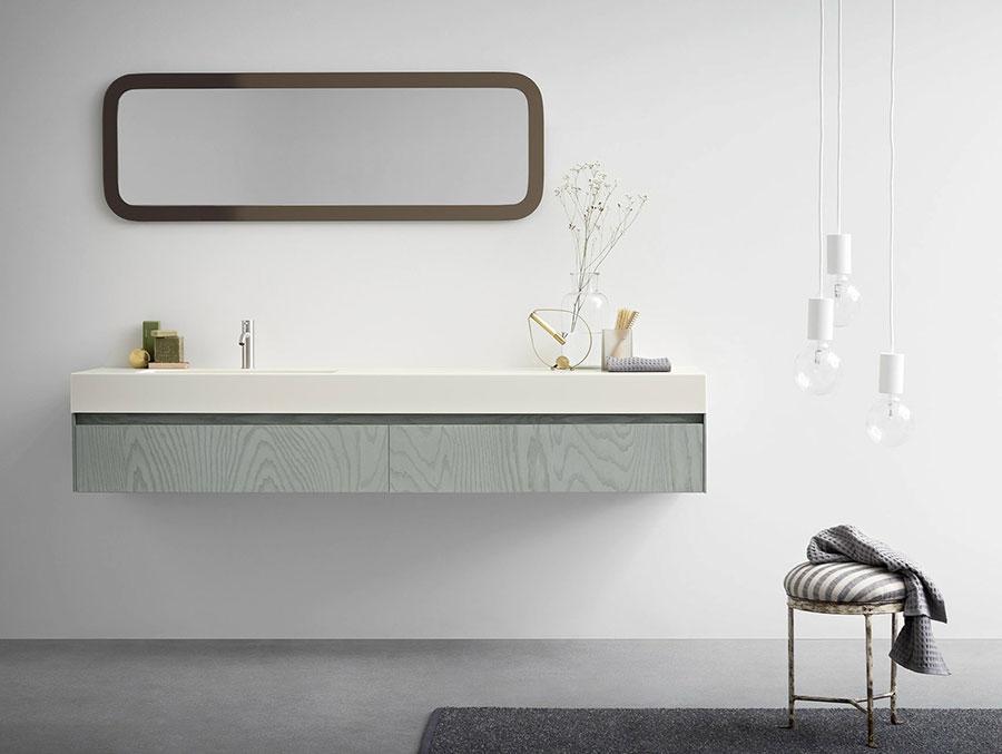 Modello di mobile bagno sospeso di design n.05