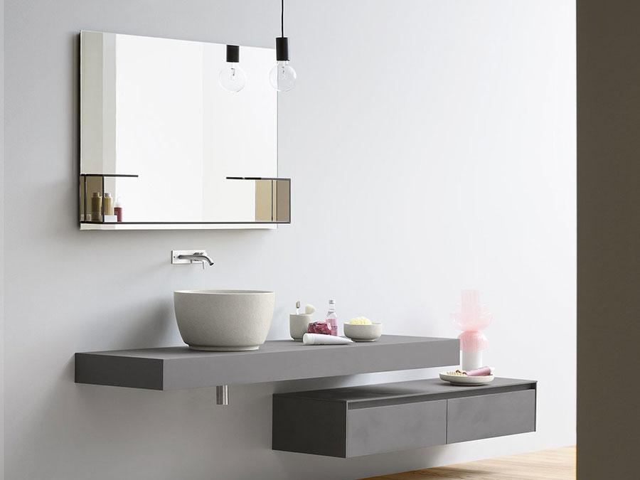 Modello di mobile bagno sospeso di design n.06