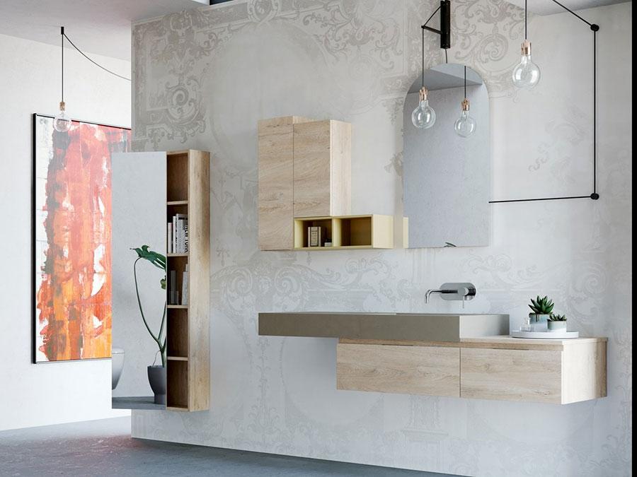 Modello di mobile bagno sospeso di design n.07