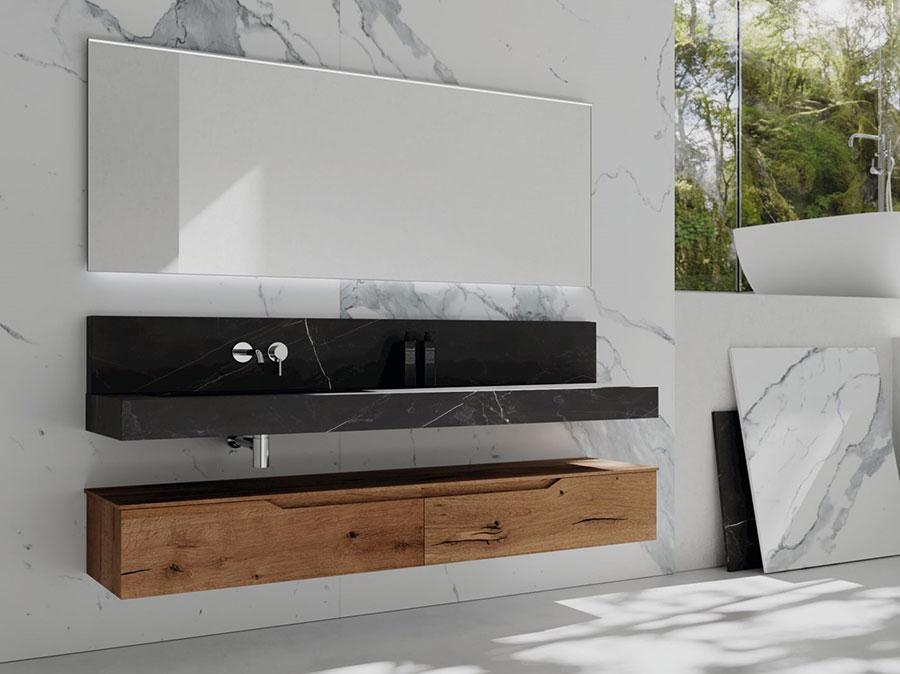 Modello di mobile bagno sospeso di design n.08