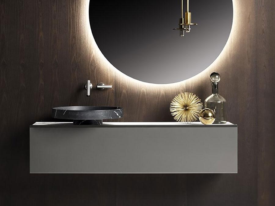 Modello di mobile bagno sospeso di design n.09