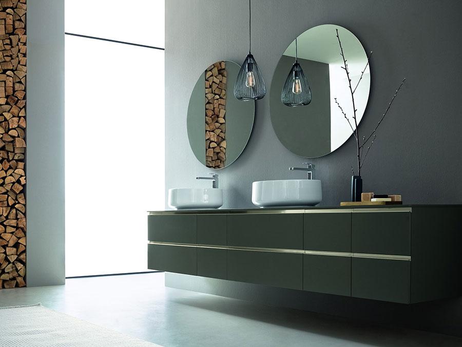 Modello di mobile bagno sospeso con doppio lavabo n.08