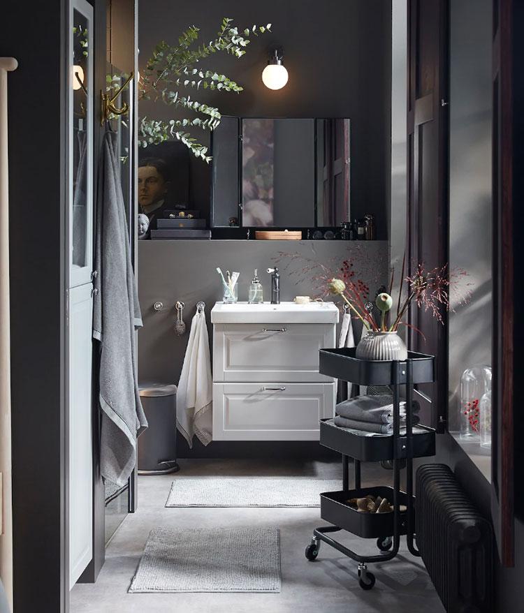 Modello di mobile bagno sospeso Ikea n.02