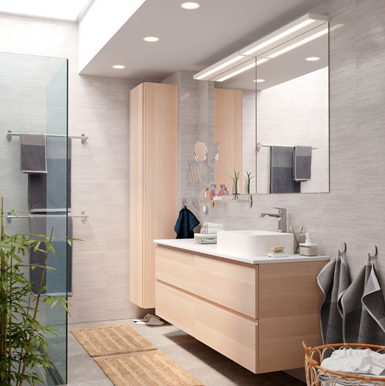 Modello di mobile bagno sospeso Ikea n.03