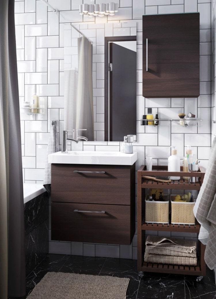 Modello di mobile bagno sospeso Ikea n.07