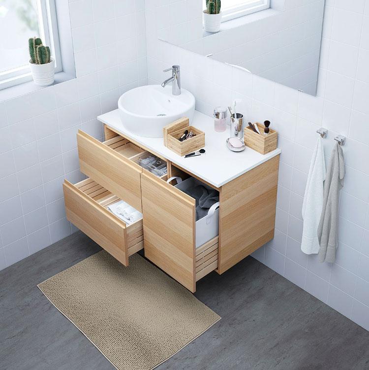 Modello di mobile bagno sospeso Ikea n.08