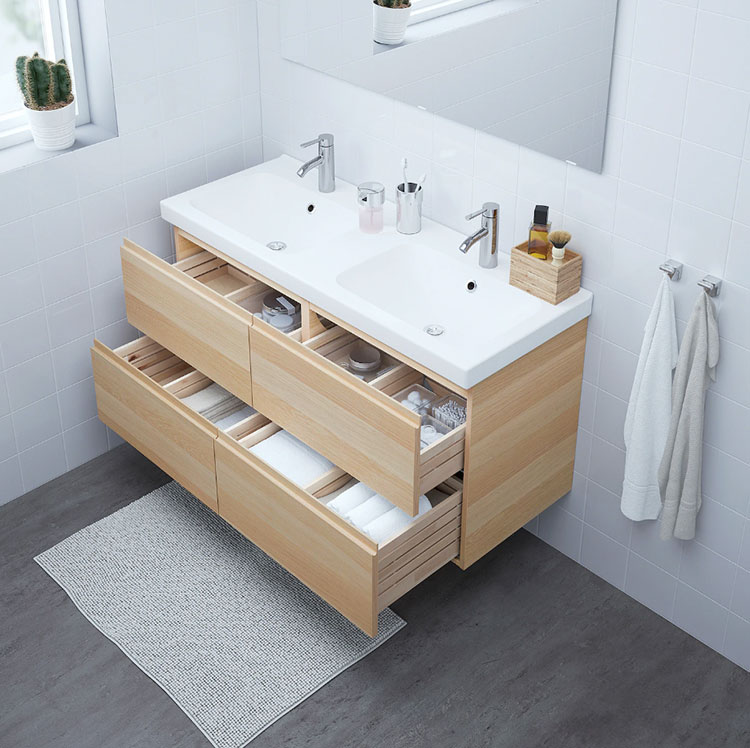 Modello di mobile bagno sospeso Ikea n.09