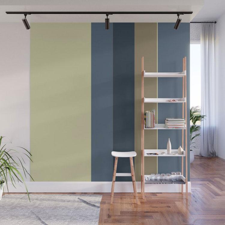 Idee per pareti a righe verticali colorate n.05