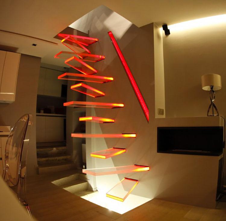 Modello di scala a sbalzo sospesa moderna n.01