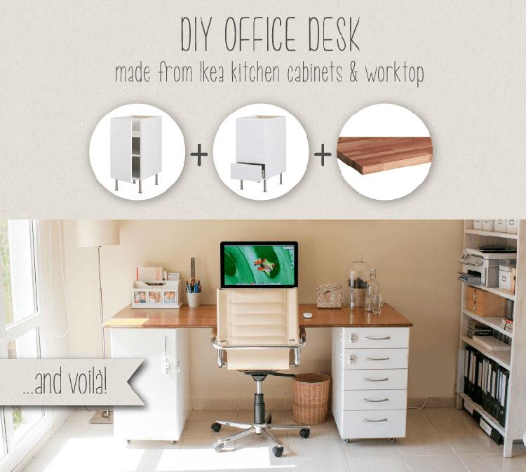 Tutorial per scrivania fai da te Ikea n.1