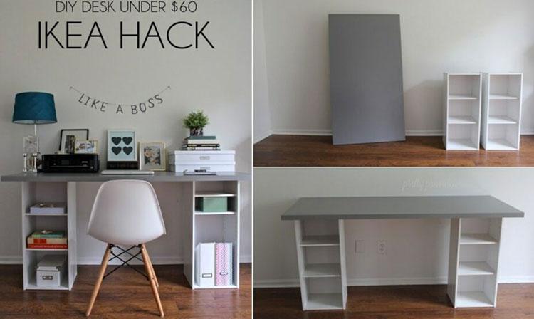Tutorial per scrivania fai da te Ikea n.2