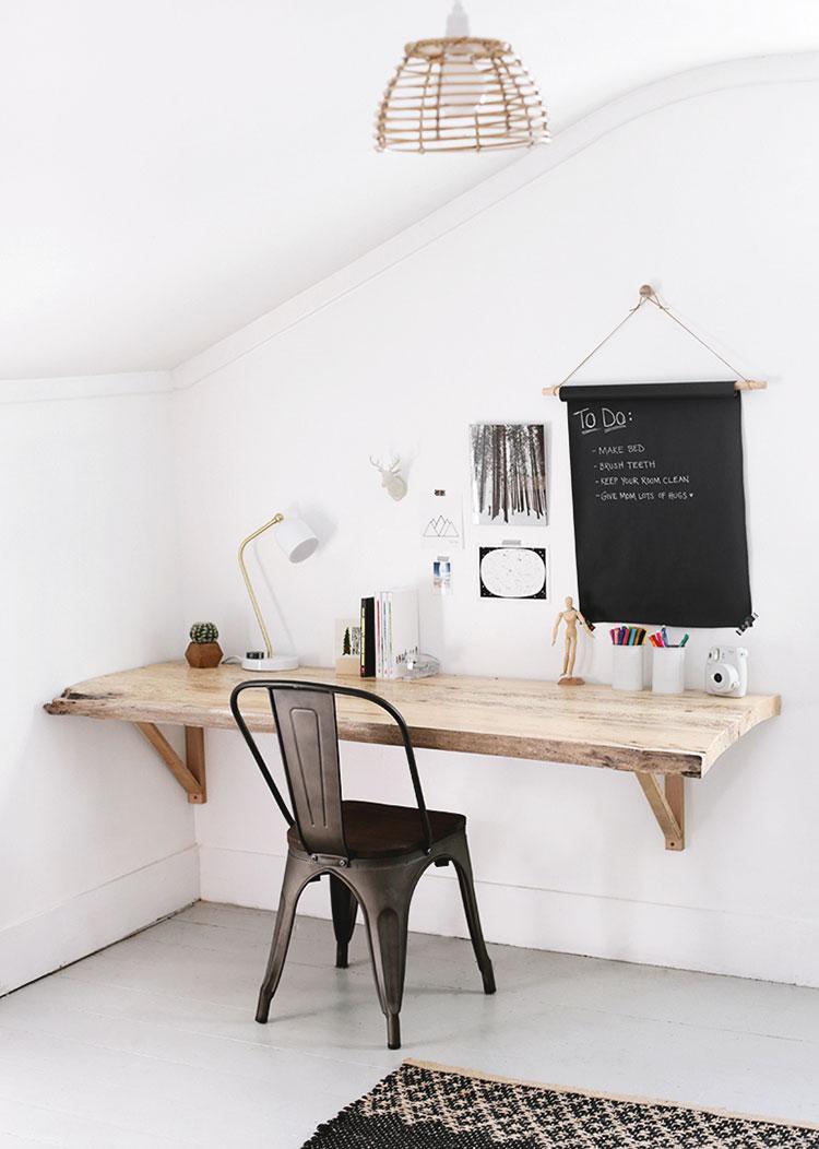 Tutorial per scrivania fai da te a muro n.1