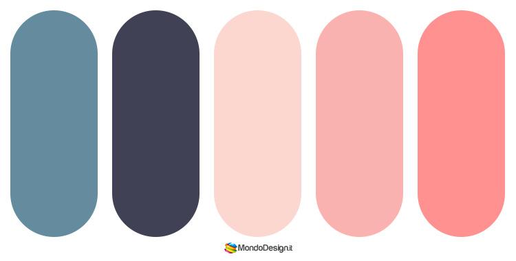 Palette colore salmone 05