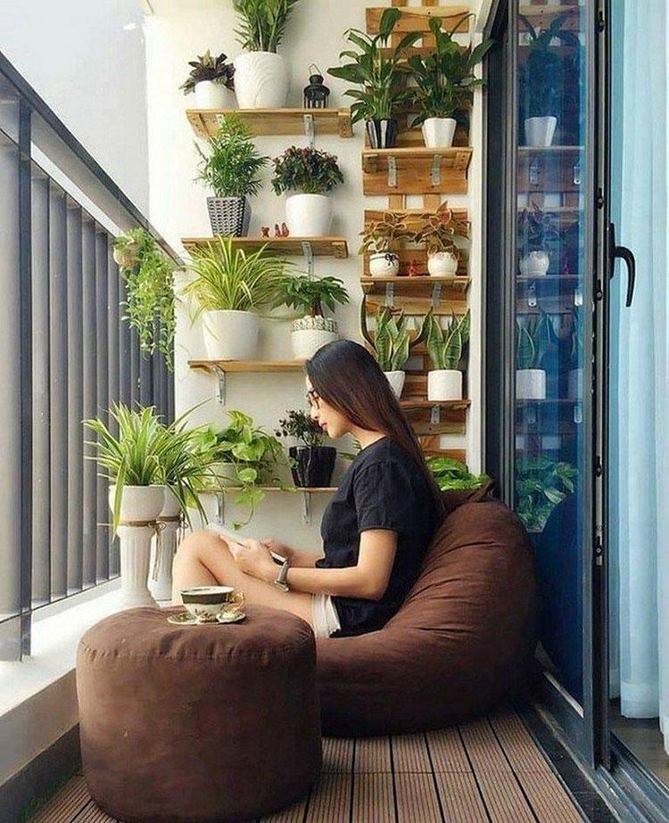 Idee per arredare un balcone piccolo n.05