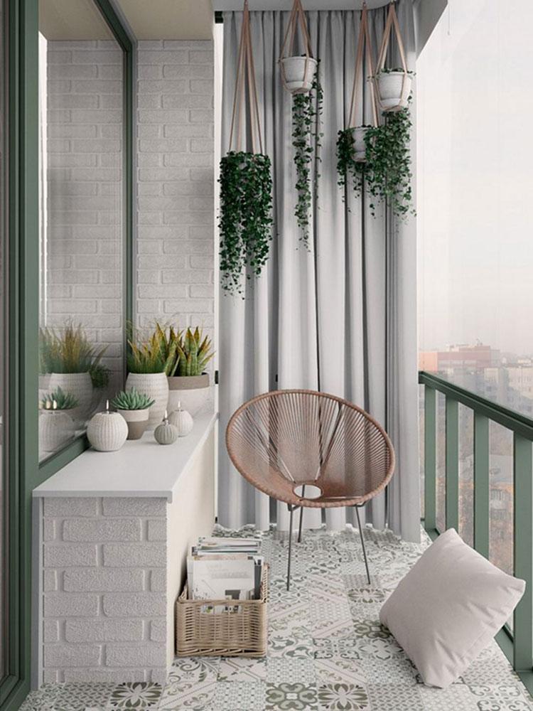 Idee per arredare un balcone piccolo n.09