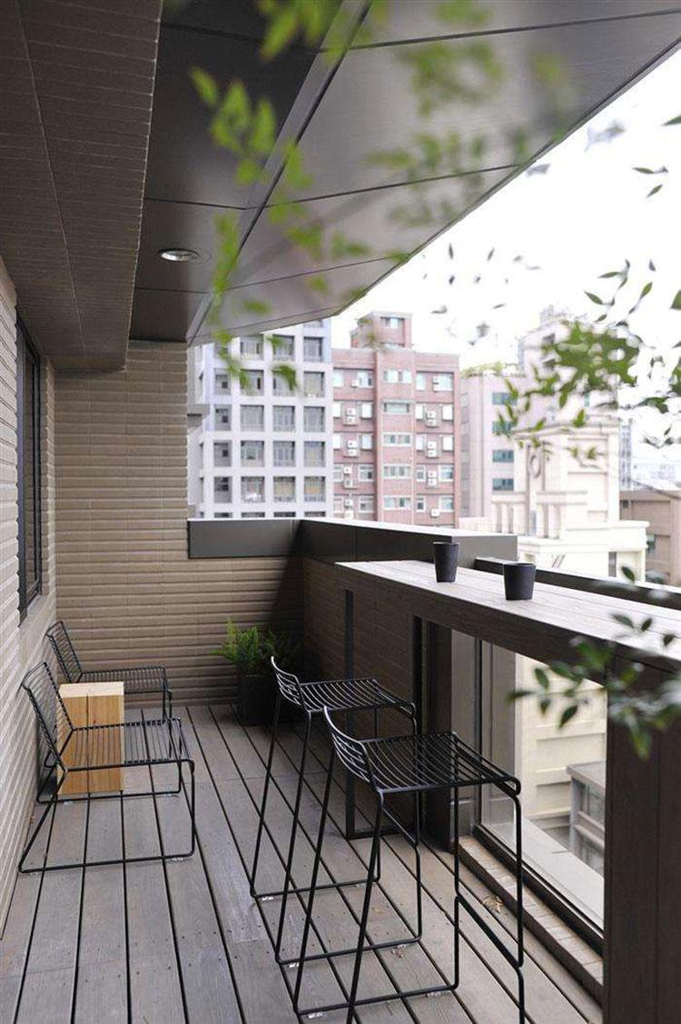 Idee per arredare un balcone piccolo n.15