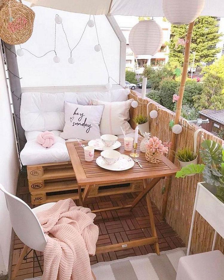 Idee per arredare un balcone piccolo n.17