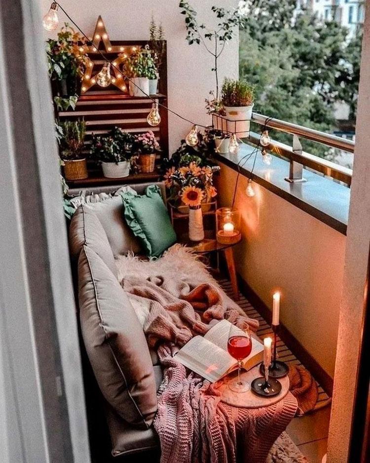 Idee per arredare un balcone piccolo n.20