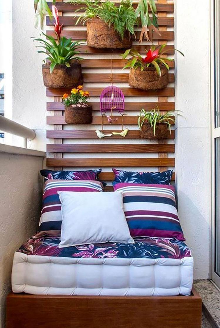 Idee per arredare un balcone piccolo n.22
