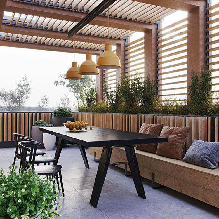 Idee per arredare il terrazzo di un appartamento n.12