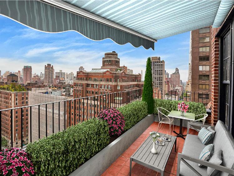 Idee per arredare il terrazzo di un appartamento n.13