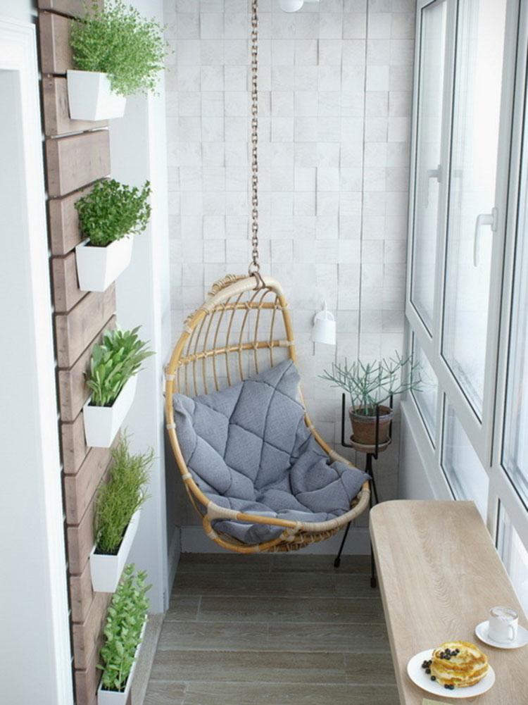 Idee per arredare il terrazzo di un appartamento n.14