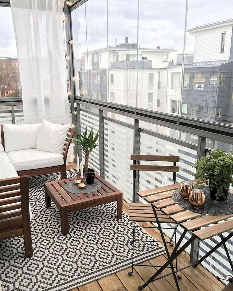 Idee per arredare il terrazzo di un appartamento n.17