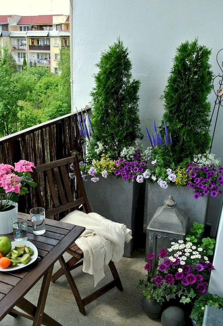 Idee per arredare il terrazzo di un appartamento n.20