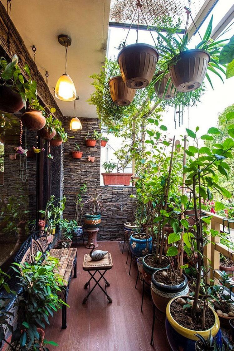 Idee per arredare il terrazzo di un appartamento n.21