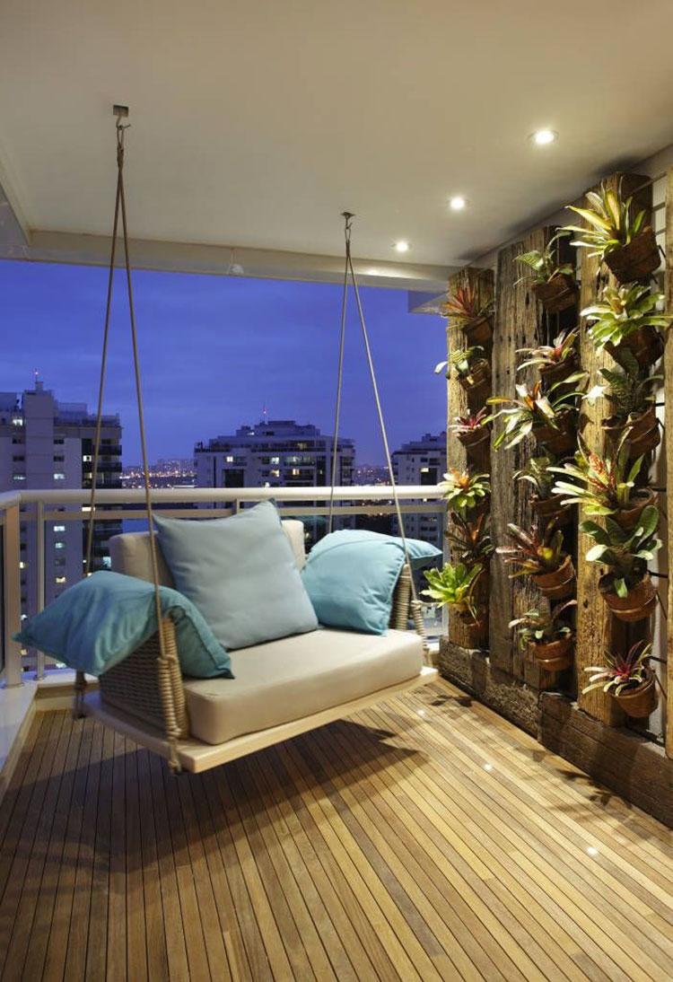 Idee per arredare il terrazzo di un appartamento n.22